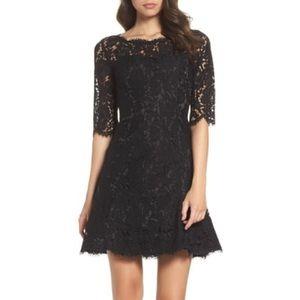 Eliza J Fit & Flare Cocktail Dress